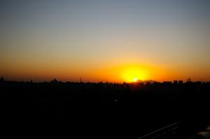 couché de soleil sur Pékin/sunset on Biejing